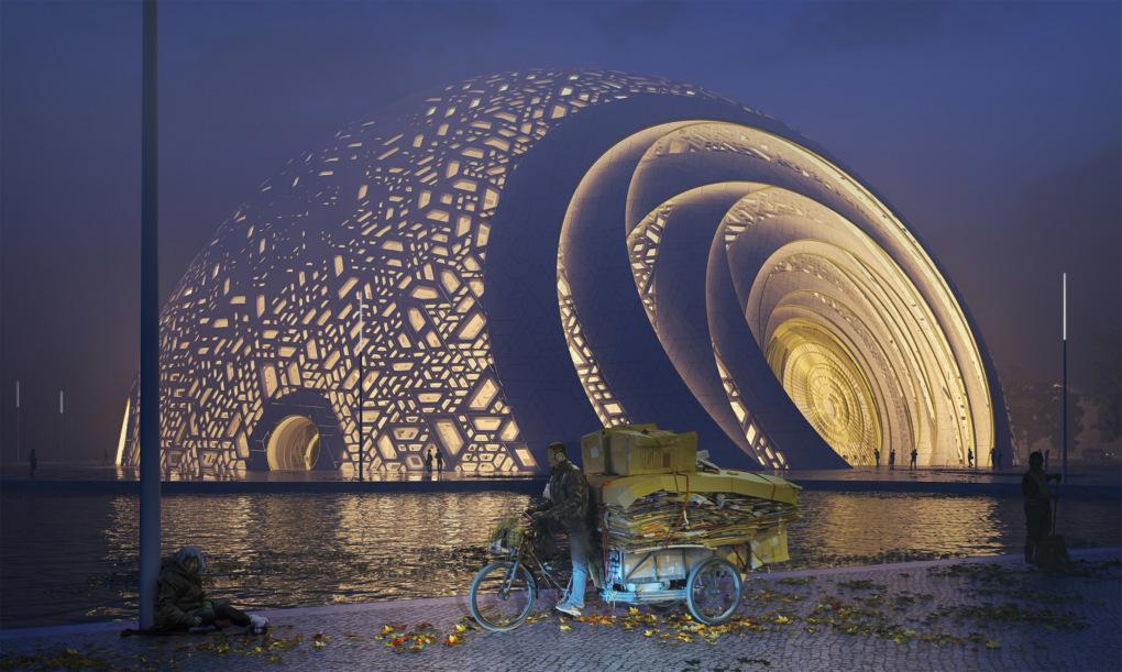 В Китае построят театр  в виде шара-головоломки.Вокруг Света. Украина