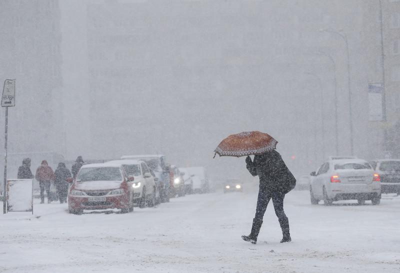Киевляне делятся впечатлениями от первого снега
