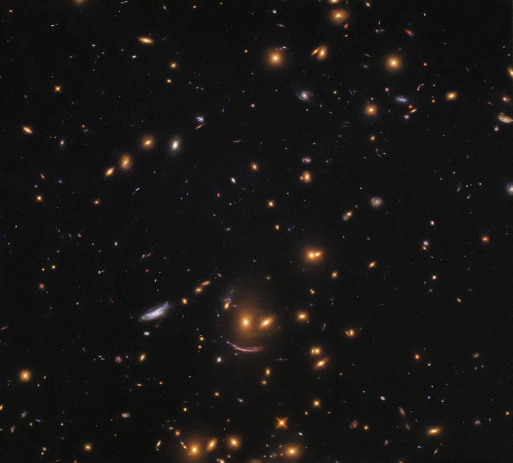 Телескоп Hubble запечатлел космический смайл.Вокруг Света. Украина