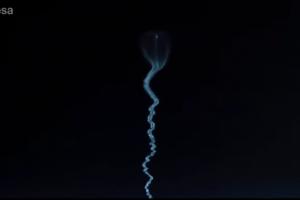 Астронавт ESA снял старт ракеты с борта МКС