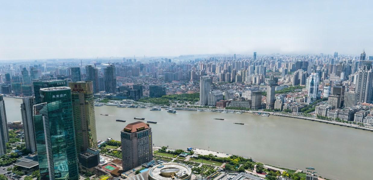 Панорама Шанхая в рекордном разрешении