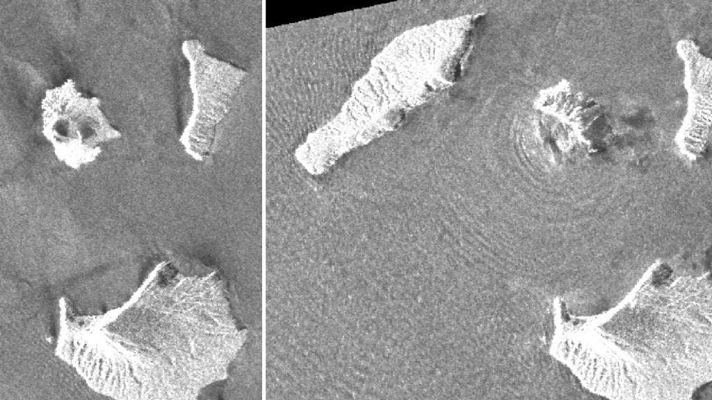 Причина цунами: японский спутник обнаружил обрушение вулкана Кракатау
