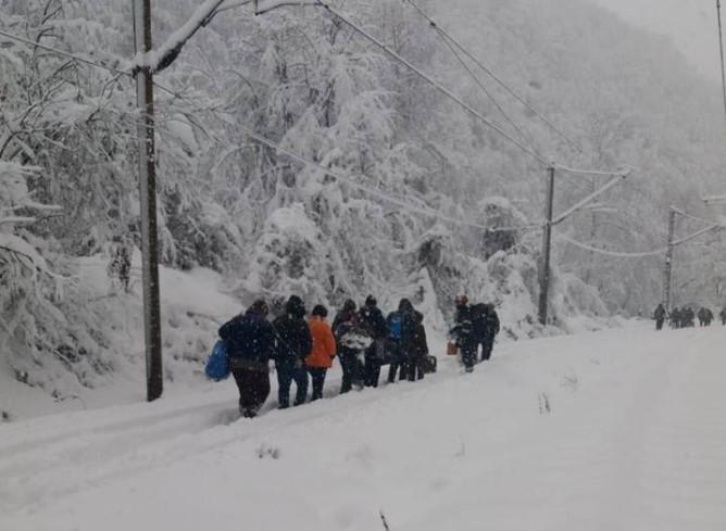 Балканы парализовал сильный снегопад