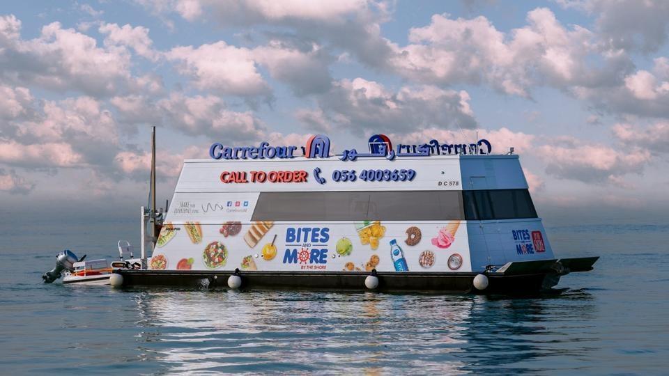 В Дубае открылся первый в мире плавучий супермаркет