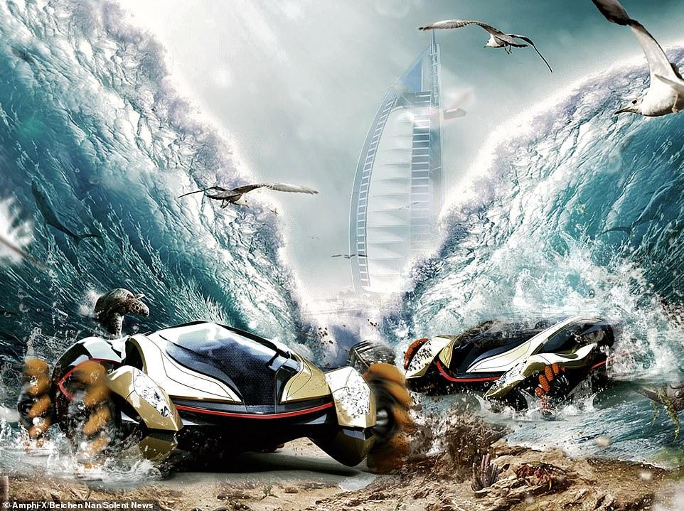 И на земле и под водой: австралийцы создали суперкар-амфибию
