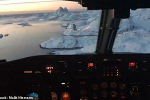Звездные войны? Пилот показал посадочную полосу в Гренландии