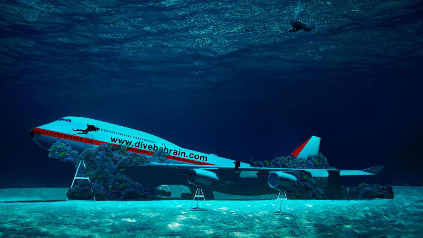 В Бахрейне ради забавы утопили Boeing