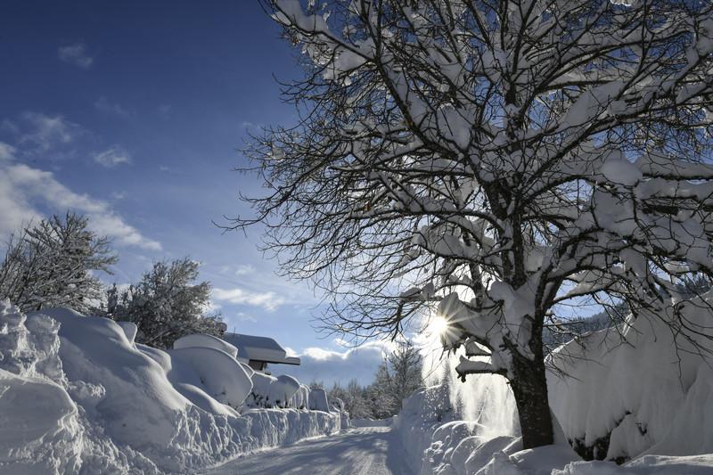 Снегопады в Европе: красный уровень опасности в фото