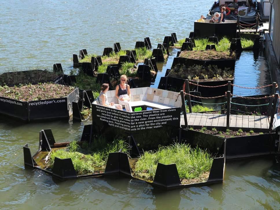 В Роттердаме появится остров-парк из выловленного в реке мусора