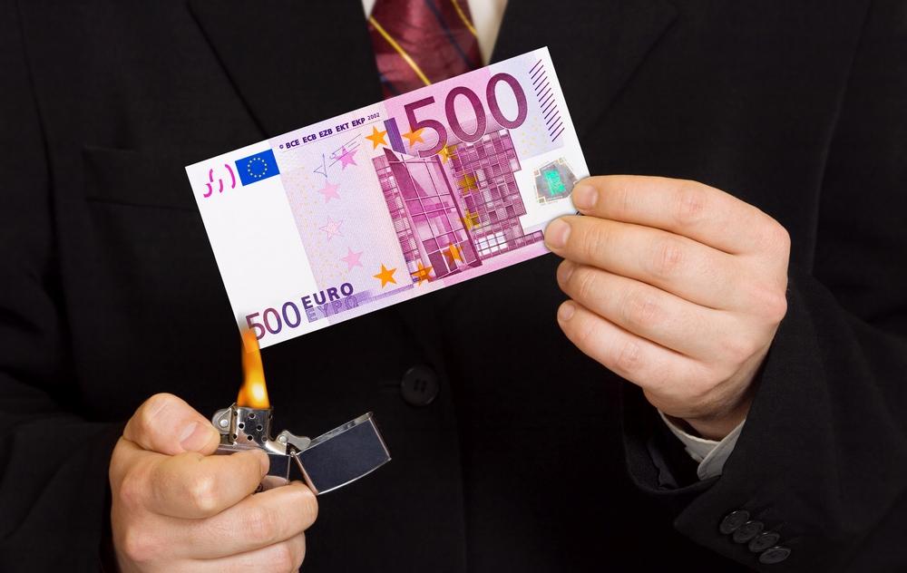 Евросоюз перестает выпускать банкноты в 500 евро