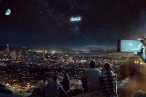 В России планируют показывать рекламу из космоса
