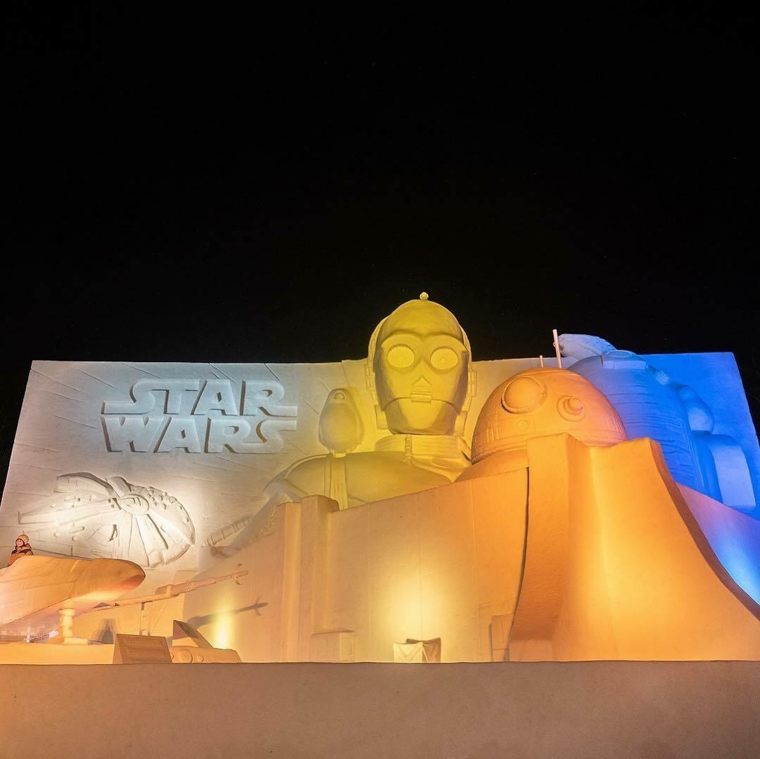 В Японии открылся фестиваль снежных скульптур
