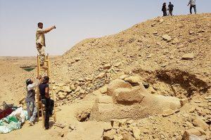 В Египте нашли древнего сфинкса с головой барана