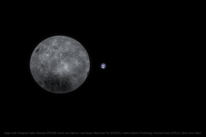 Китайский спутник прислал фото полной Земли с обратной стороны Луны