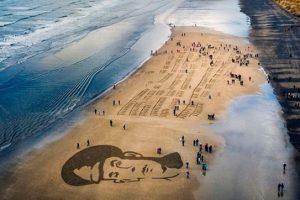 Самые красивые рисунки на пляжах в Instagram