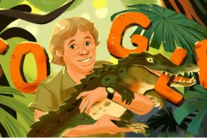 Google сделал дудл в честь натуралиста и телеведущего Стива Ирвина