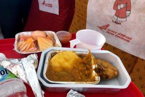 В Индии авиапассажир обнаружил в еде огромного таракана
