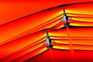 NASA показало ударную волну сверхзвукового самолета
