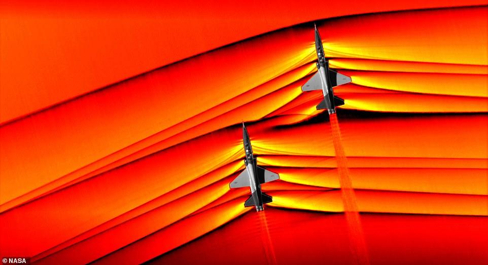 NASA показало ударную волну сверхзвукового самолета.Вокруг Света. Украина