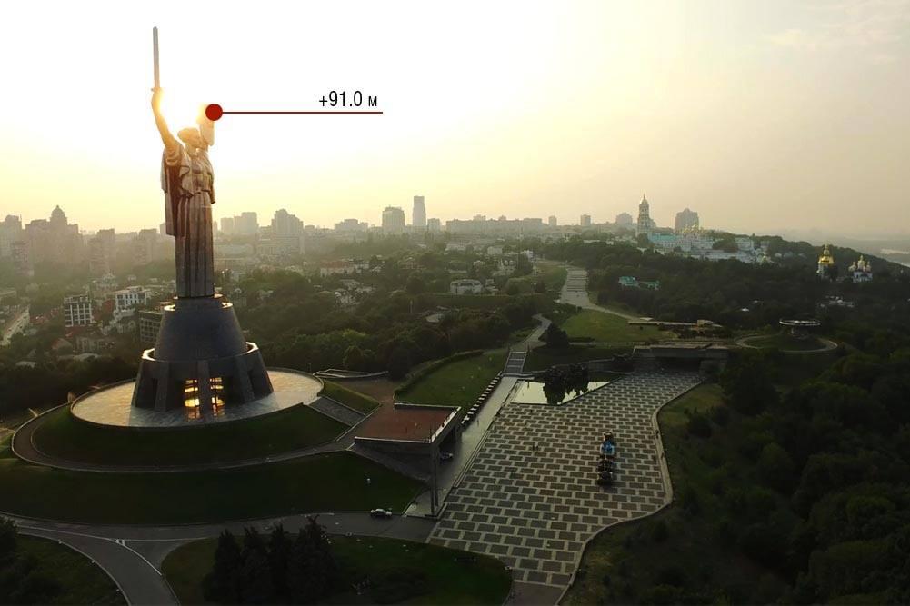 Экстрим-площадка на монументе «Родина-мать» в Киеве открыла сезон.Вокруг Света. Украина