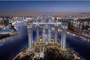 В Китае построили первый в мире горизонтальный небоскреб