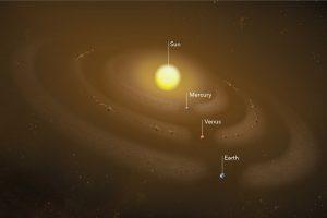 Астрономы обнаружили кольца пыли вокруг Меркурия и Венеры