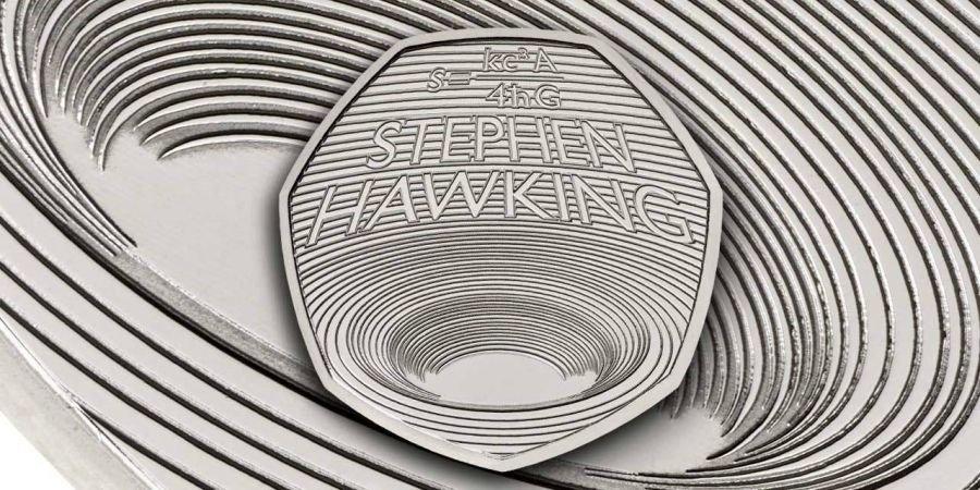 В Великобритании отчеканили монету в честь Стивена Хокинга