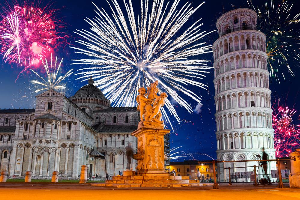 В итальянской Пизе наступил новый 2020 год