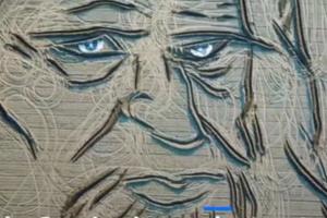 Итальянский художник вспахал портрет Леонардо да Винчи