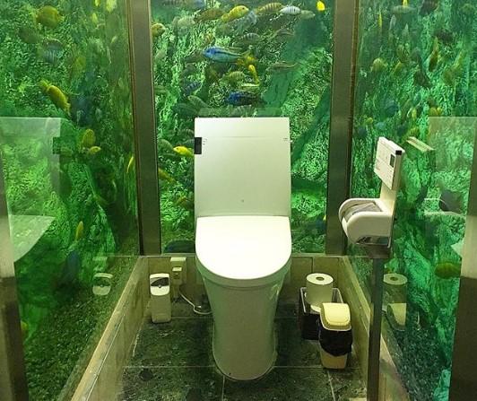 В японском ресторане аквариум за $270 000 стал туалетом