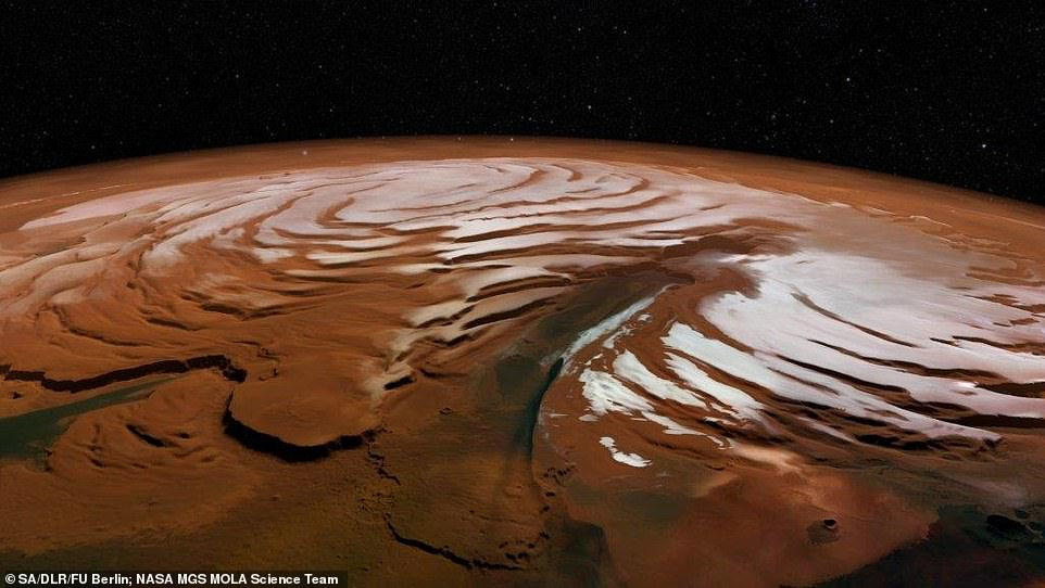 На Марсе обнаружили огромное количество воды – остатки древней ледяной шапки.Вокруг Света. Украина