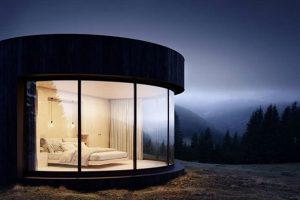Во Франции туристам предлагают палатку-кабину
