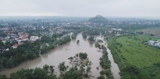 Наводнение на Закарпатье: взгляд сверху