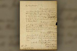 Украденное 60 лет назад письмо Александра Гамильтона вернулось в архив