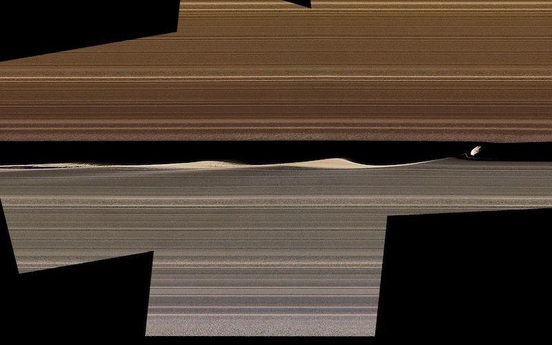 Кольца Сатурна изнутри