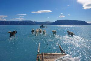 Метеорологи забирают оборудование с тающих льдов Гренландии