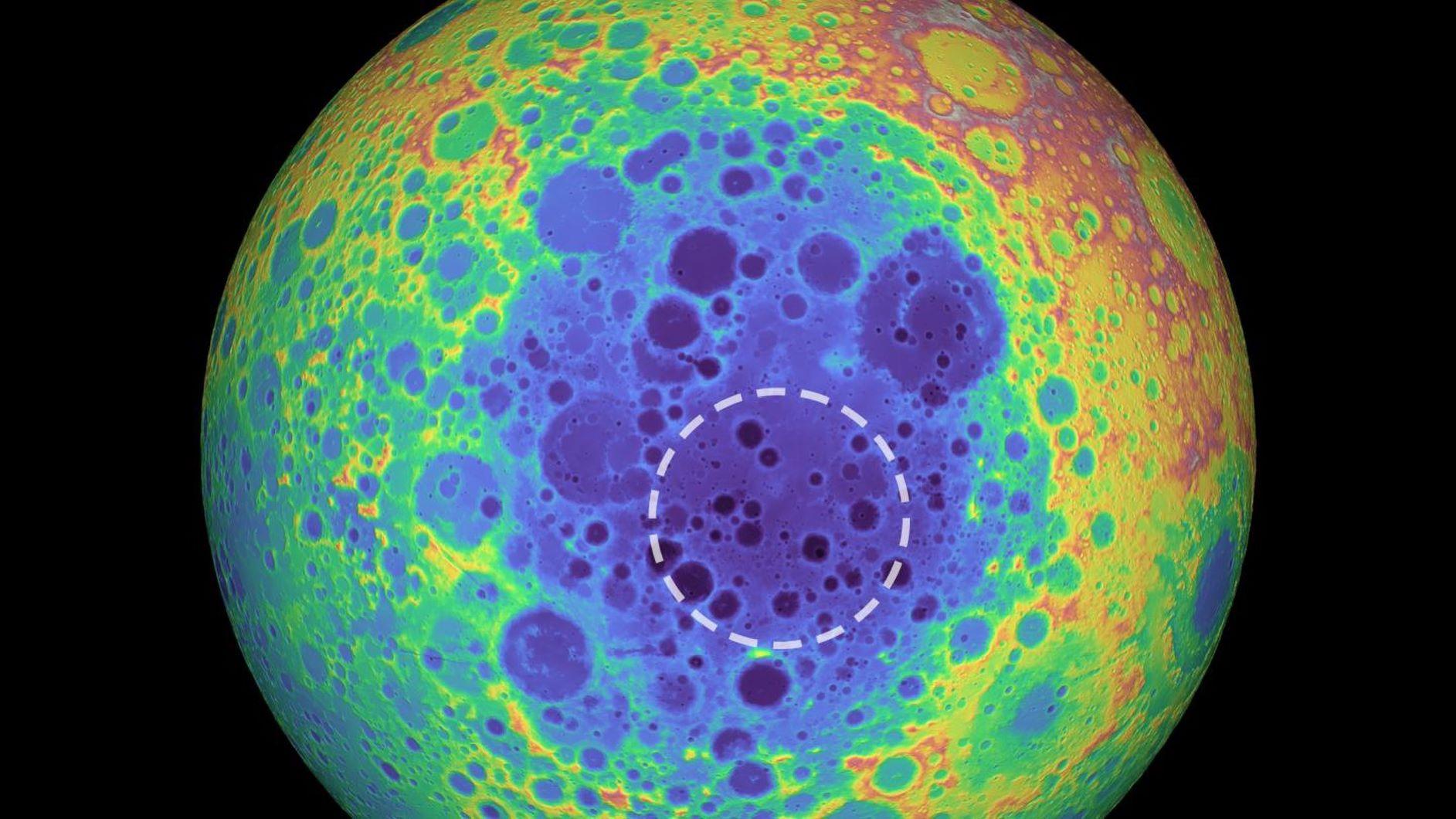 Ученые опровергли популярную теорию о формировании крупнейшего лунного кратера