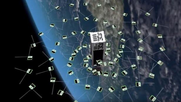 На орбиту Земли запустили 100 спутников размером с конфету