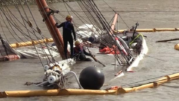 В Германии затонул исторический парусник