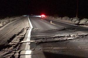 Трещина после землетрясения в Калифорнии видна из космоса