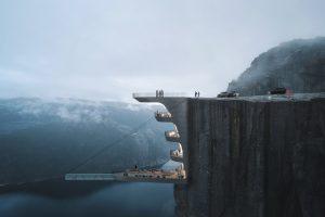 В Норвегии отель повиснет над обрывом