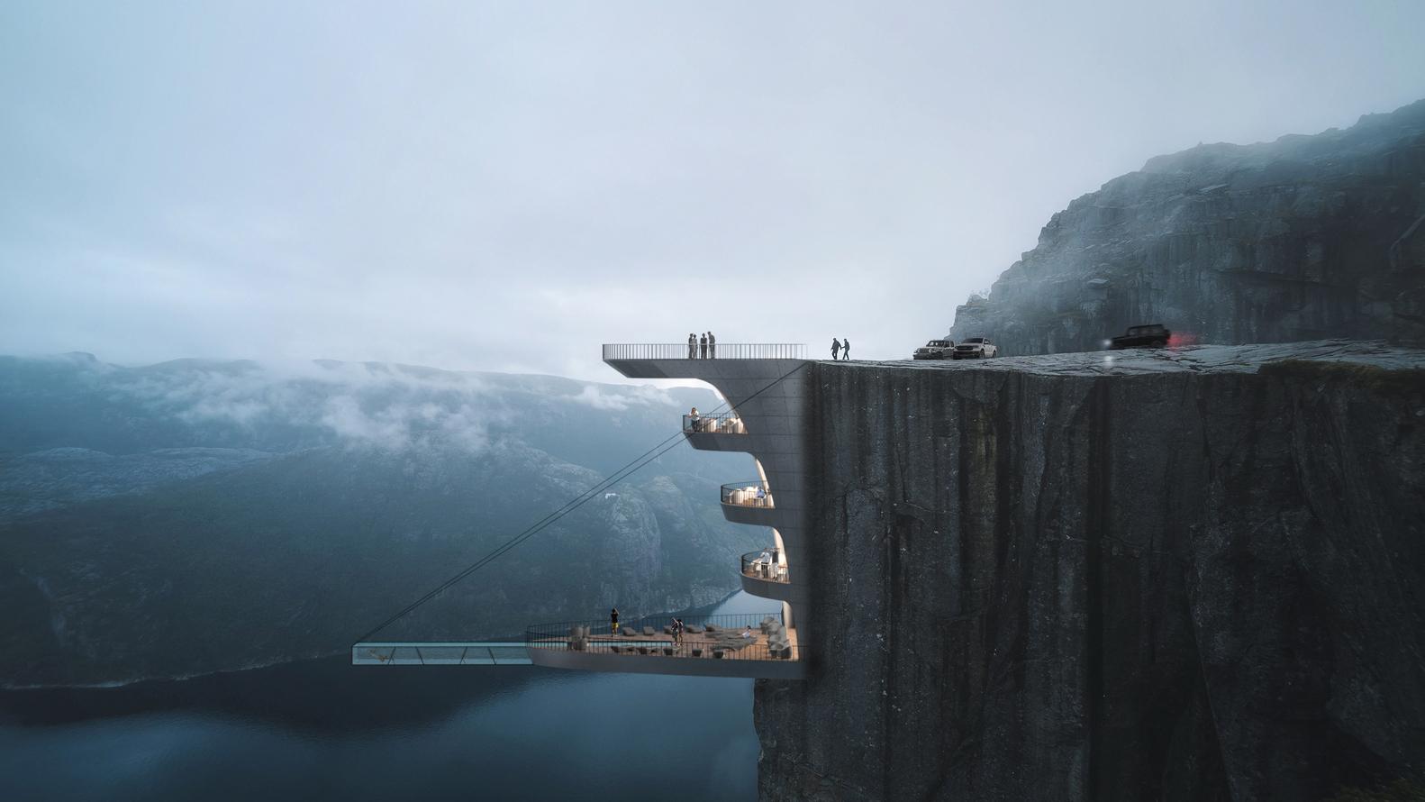 В Норвегии отель повиснет над обрывом.Вокруг Света. Украина