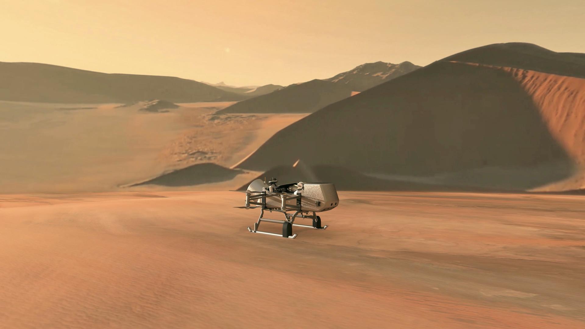 Дрон NASA исследует признаки жизни на Титане
