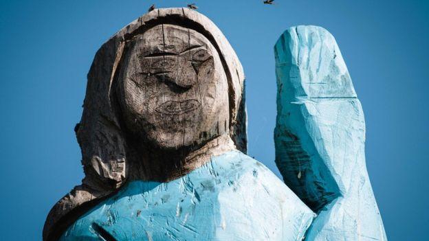 В Словении установили шаловливую статую Мелании Трамп.Вокруг Света. Украина