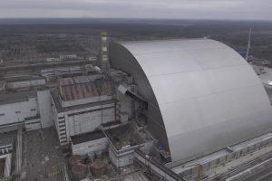 Четвертый реактор ЧАЭС закрыли новым куполом