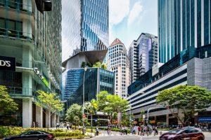 Новый сингапурский небоскреб воспарил над землей