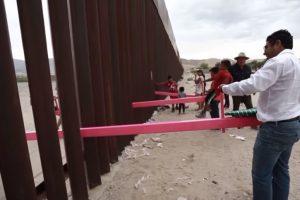 В стене на границе США и Мексики установили качели