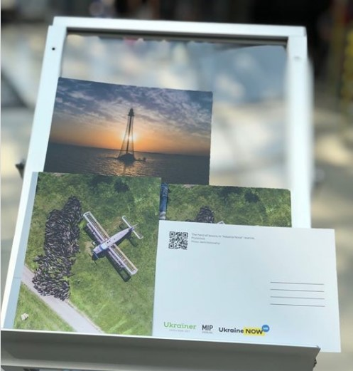 Из аэропорта Киева можно бесплатно отправить открытку