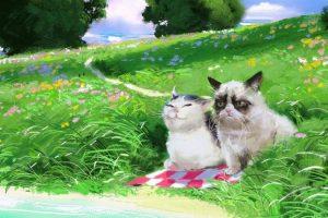 Норвежский художник рисует популярных котов-мемов