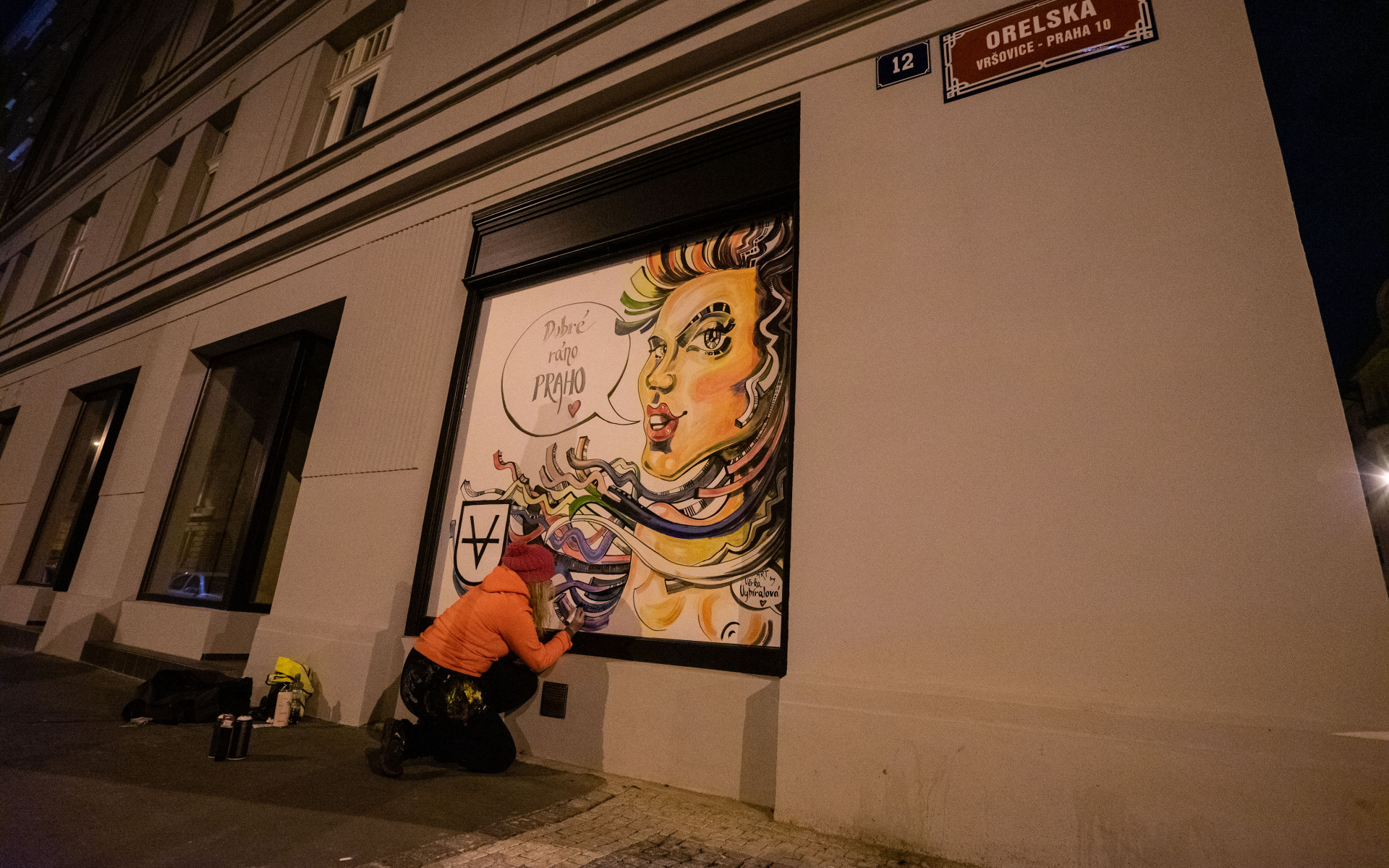 Исторический центр Праги разрисовали граффити.Вокруг Света. Украина